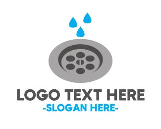 Plumbing - Plumbing Water Drain Drainage logo design