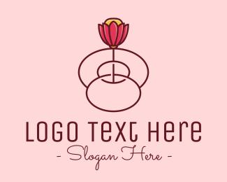 Arrangement - Fancy Bloom Flower logo design