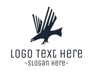Eagle - Modern Black Eagle logo design