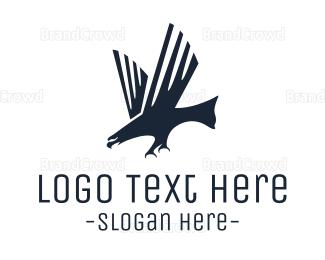 Men Accessories - Modern Black Eagle logo design
