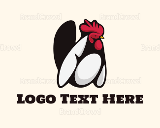 Feather - White Rooster logo design