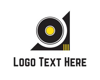 Recording - Vinyl Disc logo design