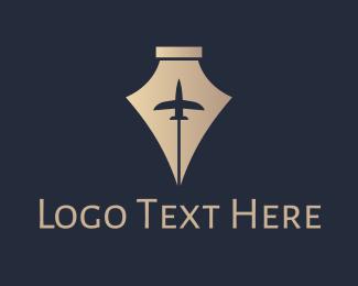 Business Trip - Royal Pen Jet logo design