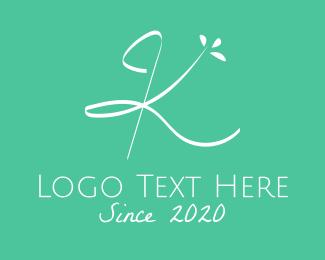 Spring - Floral Letter K logo design