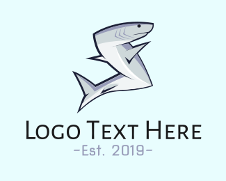 Shark - Abstract Shark  logo design