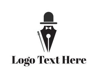 Top Hat - Elegant Pen logo design