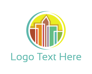 Skyline - Colorful Skyline logo design