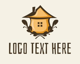 Teahouse - Herb Hut logo design
