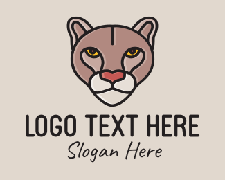 Animal Sanctuary - Wild Cougar Mascot  logo design