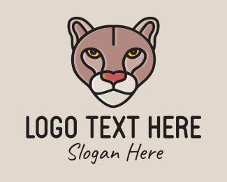 Puma - Wild Cougar Mascot  logo design