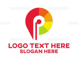 Producer - Citric Letter P logo design