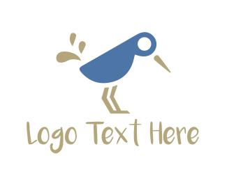 Hummingbird - Blue Bird logo design