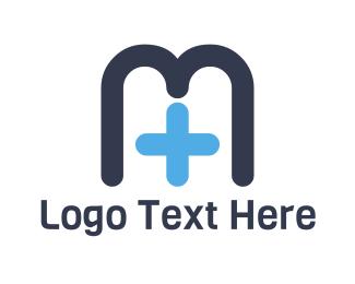 Drugstore - Medical Letter M logo design