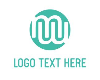 Alphabet - Modern Letter M logo design
