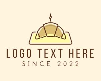 Hot - Minimalist Hot Croissant logo design