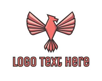 Pink - Pink Eagle Bird logo design