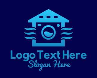 Washer - Blue Laundry Shop  logo design