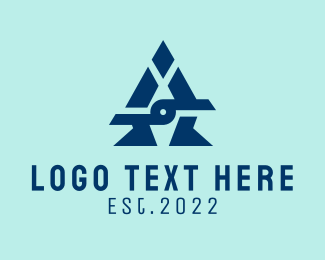 Letter A - Geometric Letter A logo design