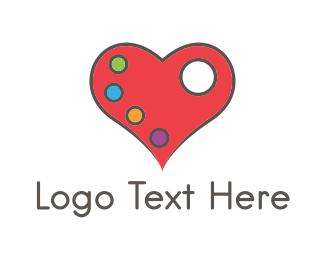 Palette - Love Palette logo design