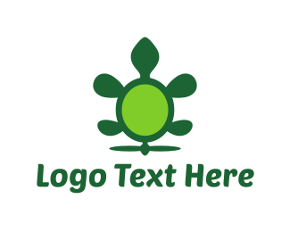 Tortoise - Green Flying Turtle logo design