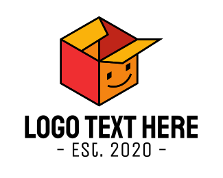 Funny - Happy Box Delivery logo design