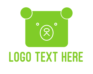 Green And White - Green Bear logo design