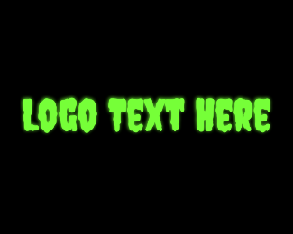 Blob - Green Creepy Slime logo design