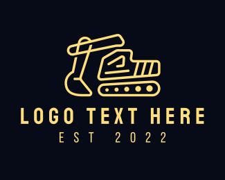 Excavator - Minimalist Construction Excavator logo design
