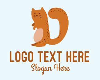 Playful - Playful Cat Letter D logo design