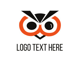 Hawk - Black Owl logo design