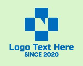 Cross Chat Bubble Logo