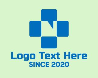 Inbox - Cross Chat Bubble logo design