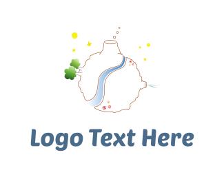 Spaceship - Little Planet logo design
