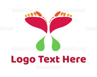 Chiropodist - Butterfly Steps logo design