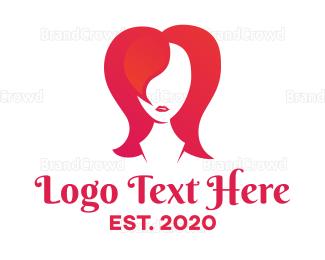 Hairstyle - Pink Hairstyle logo design