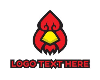 Gambling - Poker & Bird logo design