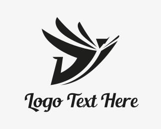 Library - Flying Book logo design