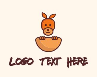 Cover - Baby Kangaroo logo design