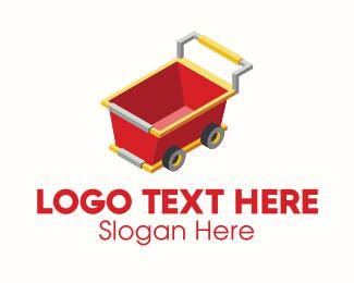 Perspective - 3D Wheel Cart  logo design