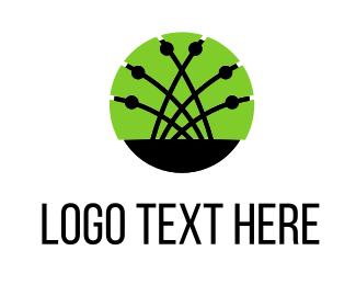 Wire - Network Links logo design