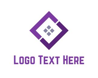Diamond - Purple Window logo design