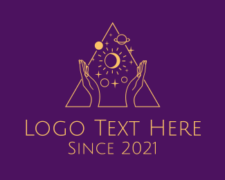 Starry - Astral Tarot Reader logo design