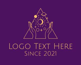Fortune Teller - Astral Tarot Reader logo design
