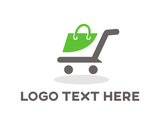 Shopping Bag - Shopping Cart  logo design