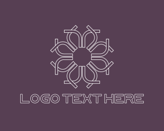 Aesthetic - White Flower logo design