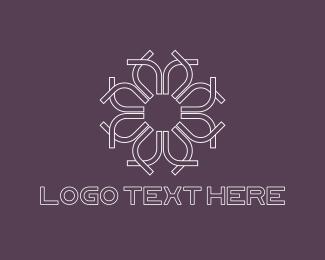 Manicure - White Flower logo design