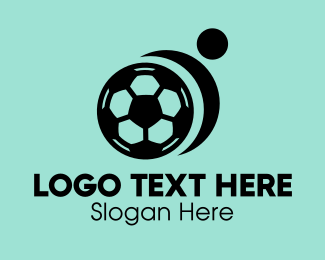 Player - Abstract Soccer Player logo design