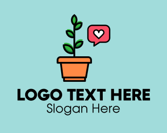 Plant Store - Plant Lover Notification logo design