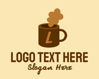 """Brown Cafe Mug Lettermark"" by BrandCrowd"