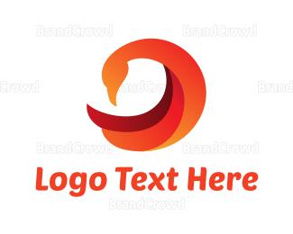 Duck - Modern Orange Duck logo design